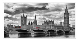 Premium-Poster LONDON Westminster Bridge Panorama
