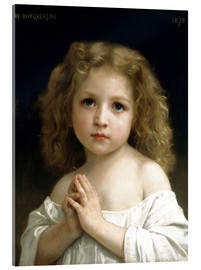 Acrylglas  Das Gebet - William Adolphe Bouguereau
