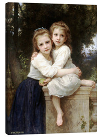Leinwandbild  Zwei Schwestern - William Adolphe Bouguereau