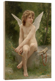 Holzbild  Amor - William Adolphe Bouguereau