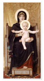 Premium-Poster  Madonna mit Kind - William Adolphe Bouguereau