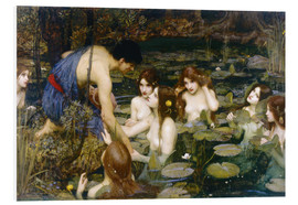 Hartschaumbild  Nymphen - John William Waterhouse