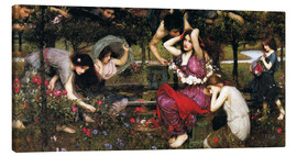 Leinwandbild  Flora - John William Waterhouse