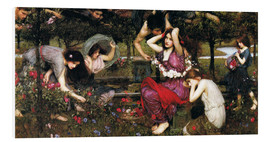 Hartschaumbild  Flora - John William Waterhouse