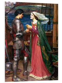 Hartschaumbild  Tristan und Isolde - John William Waterhouse