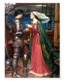 Premium-Poster  Tristan und Isolde - John William Waterhouse