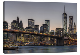 Leinwandbild  Brooklyn Bridge / Manhattan - Marcus Sielaff