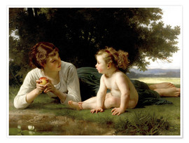 Poster  Versuchung - William Adolphe Bouguereau