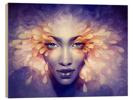 Holzbild  October - Anna Dittmann
