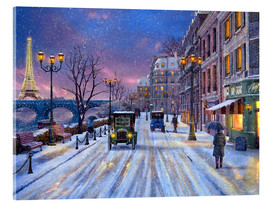 Acrylglasbild  Winter in Paris - Dominic Davison