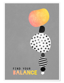 Premium-Poster Find your balance