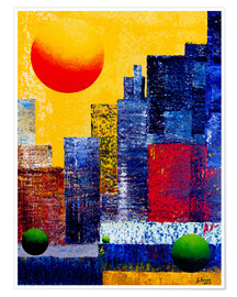 Premium-Poster New York Skyline Abstrakt