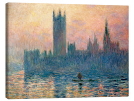 Leinwandbild  Parlament in London bei Sonnenuntergang - Claude Monet