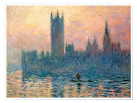 Premium-Poster Parlament in London bei Sonnenuntergang