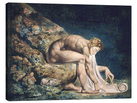 Leinwandbild  Isaak Newton - William Blake