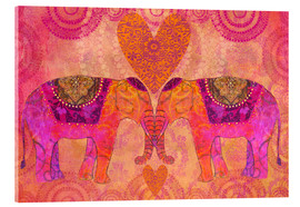 Acrylglasbild  Elephants in Love - Andrea Haase