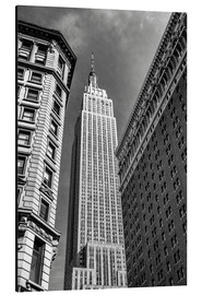 Alubild  Empire State Building - New York City (schwarz weiß) - Sascha Kilmer