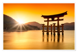 Premium-Poster Miyajima in Japan