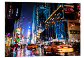 Hartschaumbild  Broadway by night - New York City - Sascha Kilmer