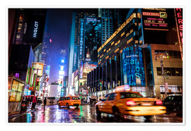 Premium-Poster Broadway by night - New York City