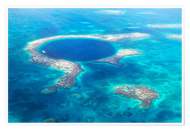 Premium-Poster Great Blue Hole, Belize