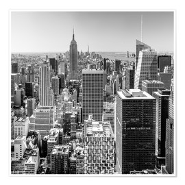 Premium-Poster Top of the Rock - New York City (schwarz weiß)