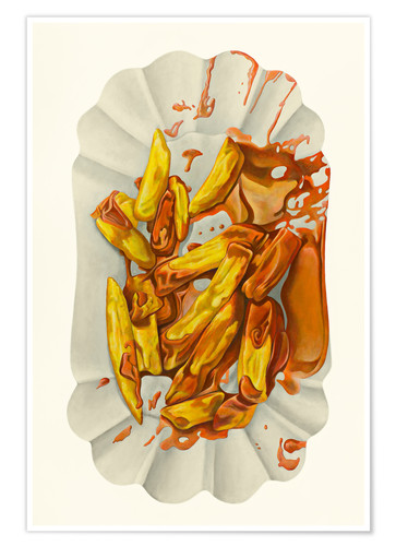 Premium-Poster Pommes mit Ketchup