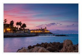 Premium-Poster Antibes bei Sonnenuntergang, Provence