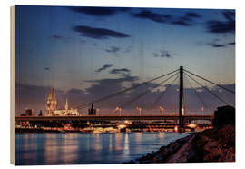 Holzbild  Daybreak in Cologne - Tanja Arnold Photography