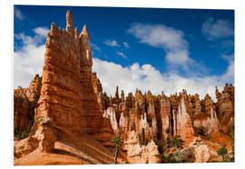 Hartschaumbild  Queen's garden trail Bryce Canyon - Circumnavigation