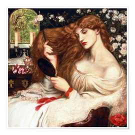 Premium-Poster  Lady Lilith - Dante Charles Gabriel Rossetti