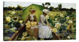 Leinwandbild  Lotosblumen - Charles Courtney Curran