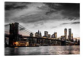 Acrylglasbild  Brooklyn Bridge - Hannes Cmarits