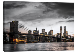 Leinwandbild  Brooklyn Bridge - Hannes Cmarits