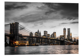 Hartschaumbild  Brooklyn Bridge - Hannes Cmarits