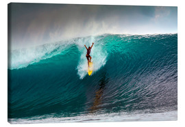 Leinwandbild  Extreme surfen große Welle - Mentawai-Inseln - Paul Kennedy
