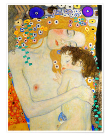 Premium-Poster  Mutter mit Kind (Detail) - Gustav Klimt