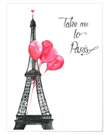 Premium-Poster Take me to Paris