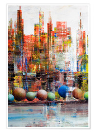 Premium-Poster Manhattan, abstrakt