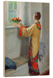 Holzbild  Neuer Tag - William Henry Margetson