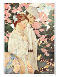 Premium-Poster  Liebende - Jessie Willcox Smith