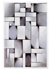 Premium-Poster  Komposition in Grau (Rag-time) - Theo van Doesburg