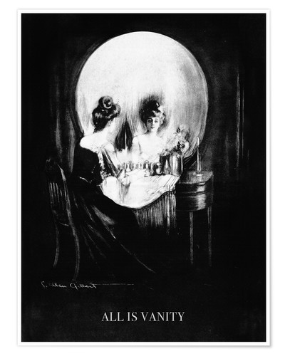Premium-Poster Alles ist Eitelkeit - All is Vanity