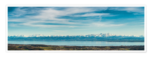 Poster Bodensee Panorama