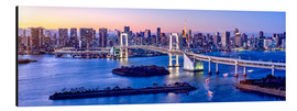 Alubild  Rainbow bridge in Tokyo - Jan Christopher Becke