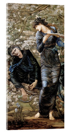 Acrylglasbild  Die Verzauberung Merlins - Edward Burne-Jones
