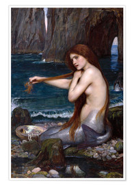 Poster  Die Meerjungfrau - John William Waterhouse