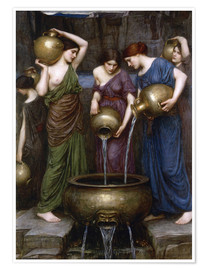 Premium-Poster  Danaïdes - John William Waterhouse