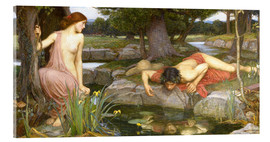 Acrylglasbild  Echo und Narcissus - John William Waterhouse