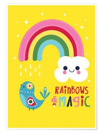 Premium-Poster Rainbows and magic